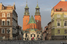 Gniezno Cathedral View From The Main Square