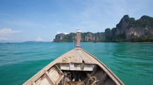 Bow Of A Wooden Fishing Boat D...