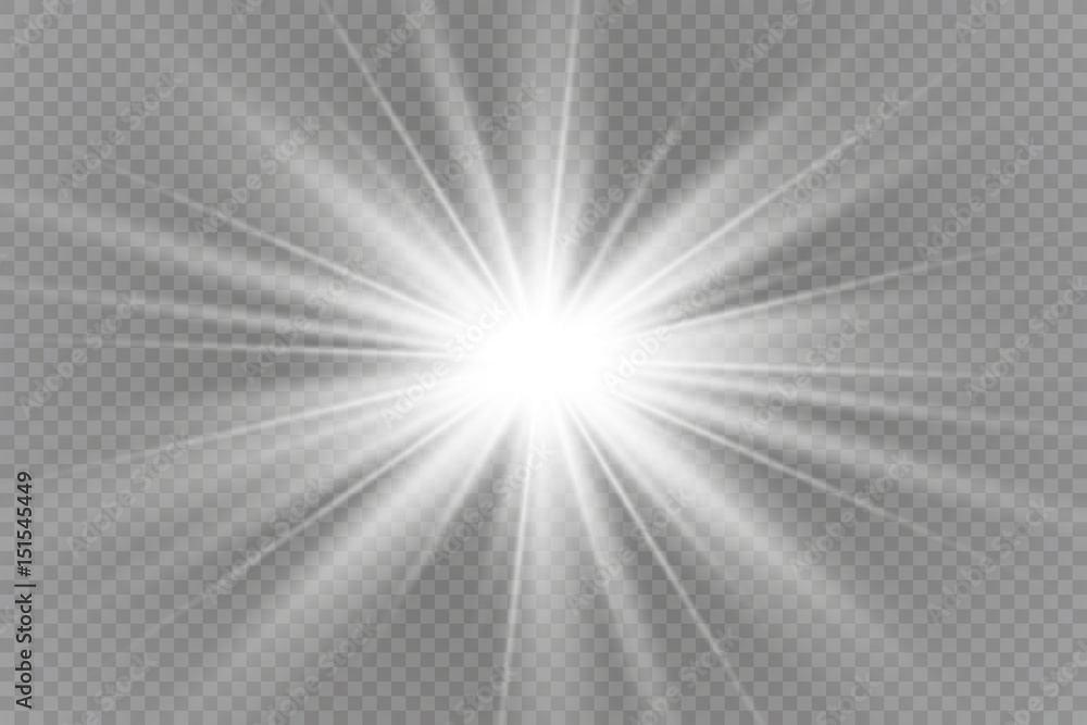 Fototapeta Vector illustration of abstract flare light rays