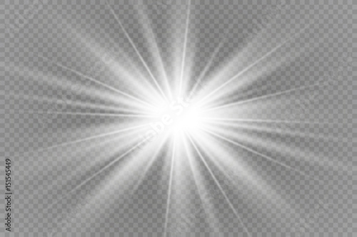 Obraz na plátne Vector illustration of abstract flare light rays