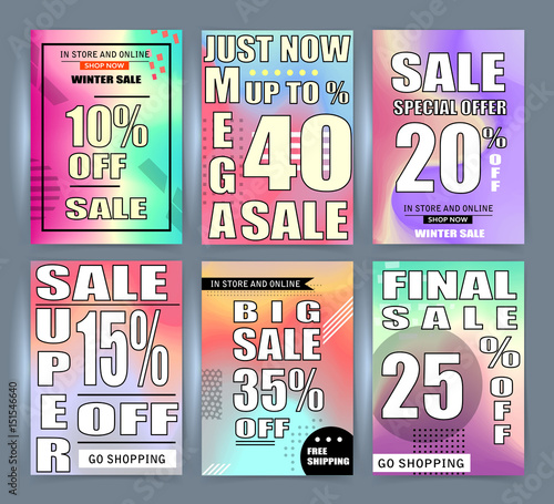 Sale Banner Templates Posters Email And Newsletter Designs Set Of Season