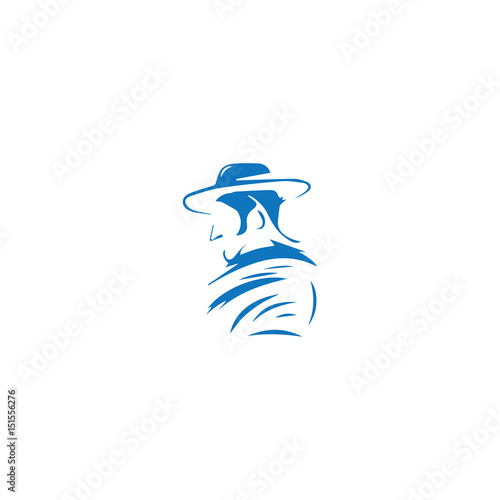 Photo  cowboy abstract logo