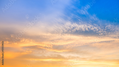 Foto  sunset sky in twilight time for background design