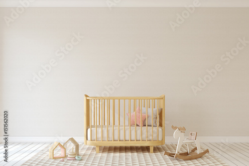 Interior of nursery. 3d render. Fototapet