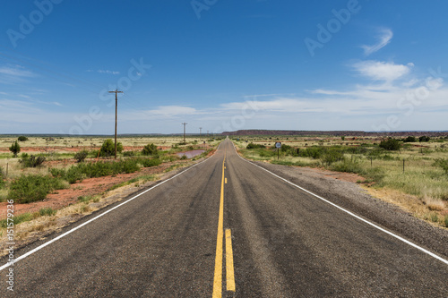 Wall Murals Route 66 Empty Road in the State of New Mexico, USA; Concept for travel in the USA and Road Trip