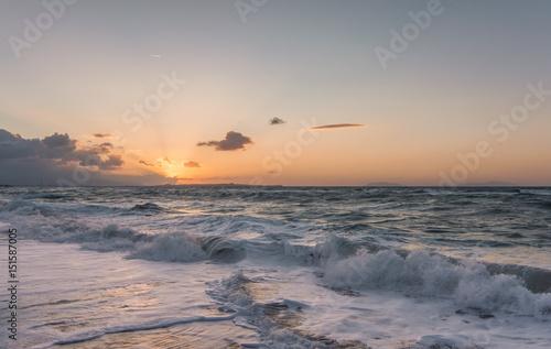 Spoed Foto op Canvas Zee zonsondergang Tramonto siciliano