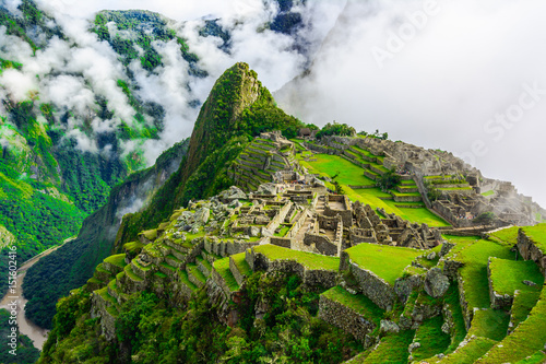 Ancient incas town of Machu Picchu. Peru Wallpaper Mural