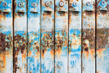 Abandoned Rusty Retro Mailbox Texture As Background