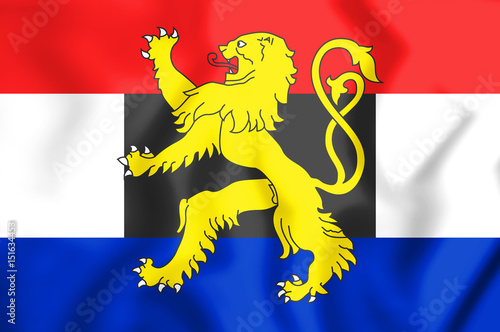 3D Flag of the Benelux. Wallpaper Mural
