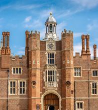 Clock Tower In Inner Court Of Hampton Court, London