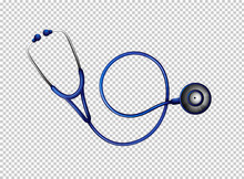 Stethoscope In Blue Color