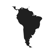 Map South Latin America. Design Isolated Vector Illustration
