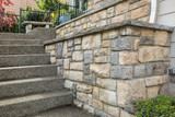 Fototapeta Kamienie - Cultured Stone Work on House Front