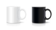 Coffee Mug Black And White. Vector