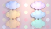 Cute Pastel Color Clouds Objec...