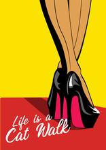 Woman Legs In Fashion High Hee...