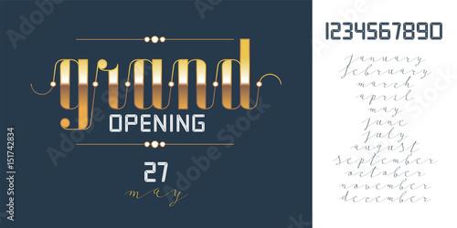 Fototapety, obrazy: Grand opening vector banner