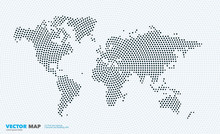 Vector World Map With Rounds, ...