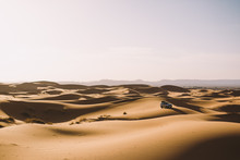 A Car In The Desert Of Morocco