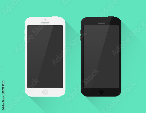 Smartphone schwarz weiß Icon Flat Design Vektor Grafik Illustration