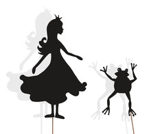 Princess And Frog Shadow Puppe...