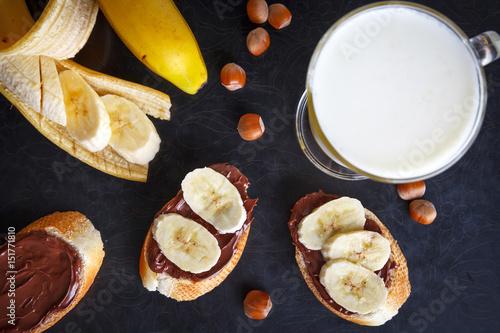 Fotobehang Zuivelproducten Sweet breakfast