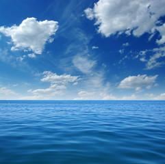 Fototapeta na wymiar Blue sea water surface