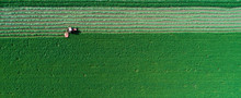 Tractor Mowing Lucerne