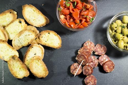 Keuken foto achterwand Voorgerecht Aperitivo tipici antipasti italiani