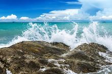 Splash Water Of Sea Wave .
