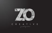 ZO Z O Letter Logo With Zebra Lines Texture Design Vector.