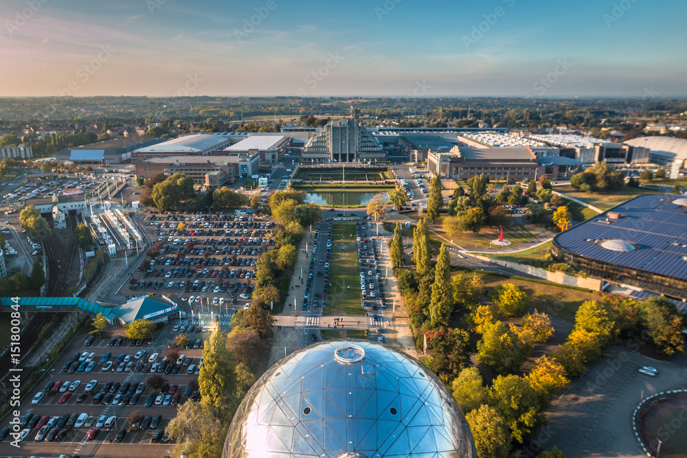 Fototapety, obrazy: View of Brussels from Atomium