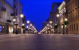 Fototapeta Miasto - Łódź Piotrkowska ulica