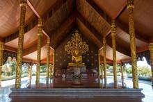 Ubon Ratchathani, Thailand - October 31, 2016 : Buddha Statue In Sirindhornwararam Temple (Phu Prao Temple), Ubon Ratchathani, Thailand