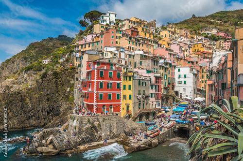 Fototapety, obrazy: Riomaggiore in Cinque Terre Italy