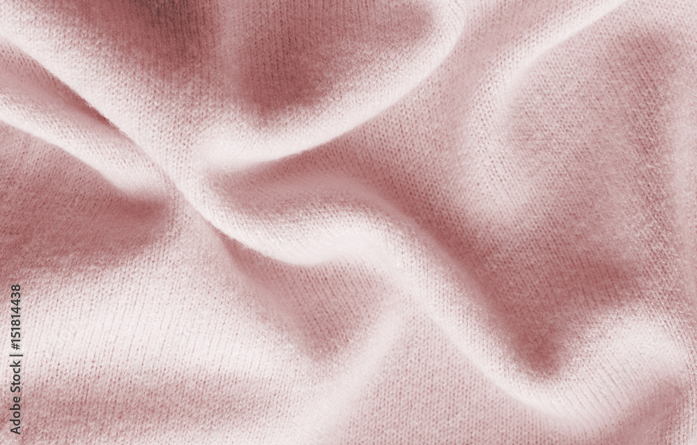 Fototapeta surface of a soft knitted fabric made of cashmere with large folds, a detail of clothes