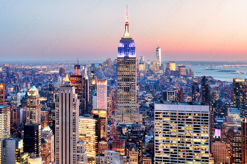 Fototapety, obrazy: Nowy Jork - panorama Manhattanu