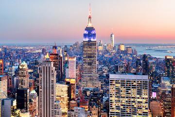 Panel Szklany Miasta New York City - Manhattan skyline