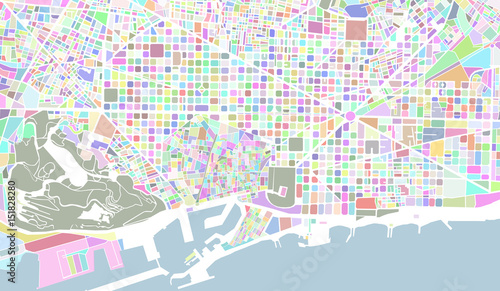 wektorowa-mapa-miasta-barcelona
