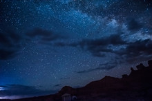Night Sky With Milky Way, Clou...