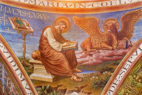 BERLIN, GERMANY, FEBRUARY - 15, 2017: The fresco of St Wallpaper Mural