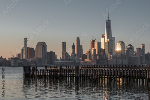 Fotografie, Obraz  World Trade Center in downtown New York City across the Hudson River from Jersey