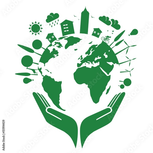 Foto  Earth and clean environment - in the hand