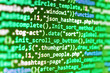 canvas print picture - Innovative startup project. Software source code. Big data and Internet of things trend. Coworkers team in modern office. Source code close-up. Monitor closeup of function source code.