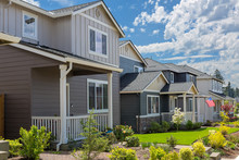 Tract Homes In North American New Subdivision