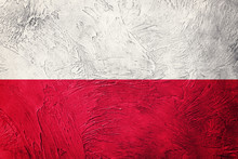 Grunge Poland Flag. Poland Flag With Grunge Texture.