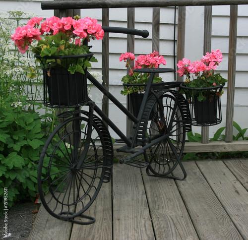 Foto op Plexiglas Fiets Bicycle Flower Pot