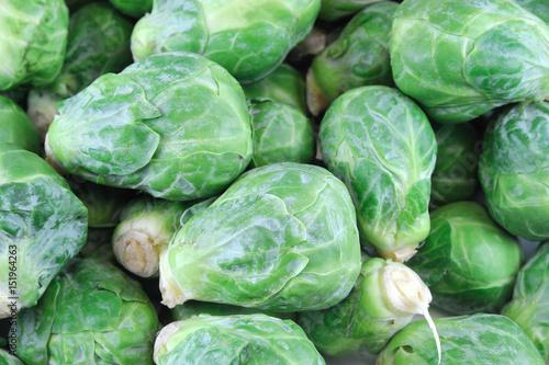 Papiers peints Bruxelles fresh brussel sprout vegetable as food background