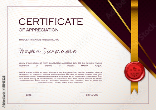 Qualification certificate of appreciation geometrical design qualification certificate of appreciation geometrical design elegant luxury and modern pattern best quality yadclub Gallery