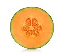 A Half Of Cantaloupe Melon Iso...